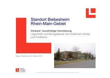 Standort Biebesheim Rhein-Main-Gebiet - LogRealCampus
