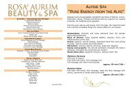 Rosas AURUM Beauty & Spa - GlocknerHof