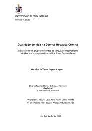 Qualidade de vida na Doença Hepática Crónica - Ubi Thesis