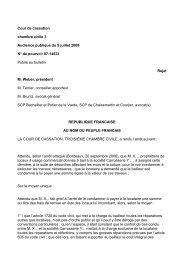 Cour de cassation chambre civile 3 Audience publique du 9 juillet ...