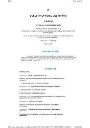 BULLETIN OFFICIEL DES IMPÔTS 3 A-9-10