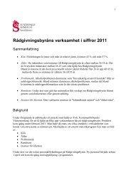 Rådgivningsbyråns verksamhet i siffror 2011 - FoU Västernorrland