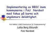 En studie om implementering av BBIC- med fokus på barns och ...