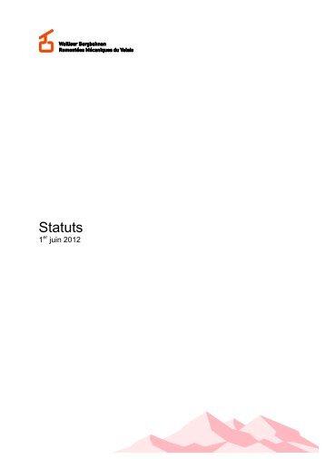 Statuts - Walliser Bergbahnen