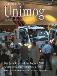 Der neue U 20 auf der bauma 2007: Schlangestehen zum Probesitzen