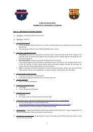 lliga de socis 2013 normativa categoria veterans - FC Barcelona