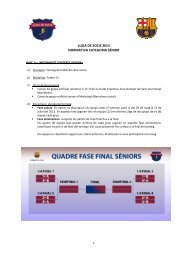 lliga de socis 2013 normativa categoria sènior - FC Barcelona