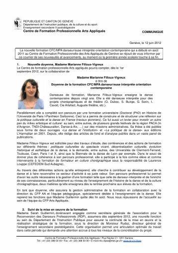 Centre de Formation Professionnelle Arts Appliqués - Ge.ch