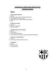 congreso de peñas barcelonistas 2013 ponencia ... - FC Barcelona
