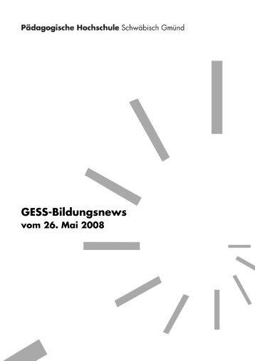 GESS-Bildungsnews