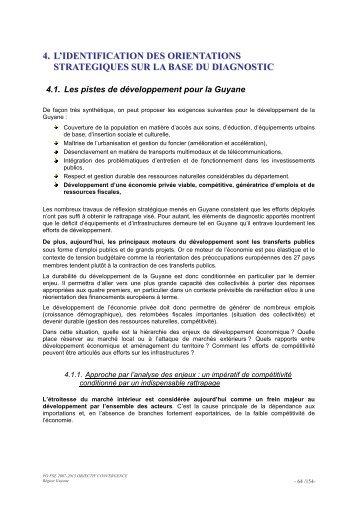 Identification des orientations stratégiques - Région Guyane
