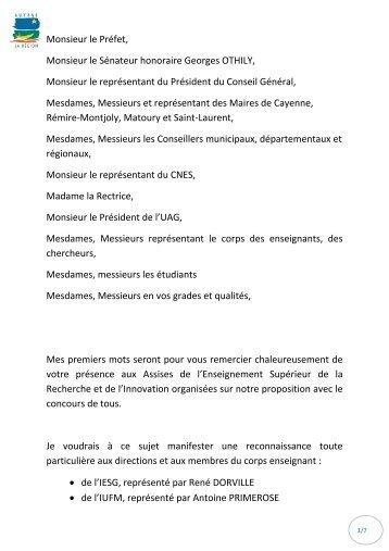 Discours D Ouverture Du President De L Association