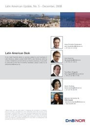 Latin American Update, No. 5 – December, 2008 Latin American Desk
