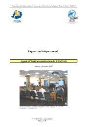 Rapport technique annuel Appui à l'Institutionnalisation du RAMPAO