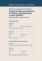 Conservacion Solicitud Electronica - Fundación Carlos de Amberes