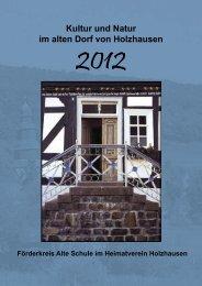 Das Programm 2012 - Heimatverein Holzhausen