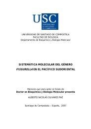 sistemática molecular del género fissurella en el pacífico sudoriental