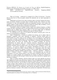 Florence BÉZIAT, El silencio en el teatro de Tirso de ... - framespa