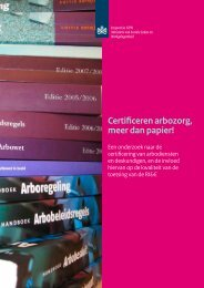 Rapport Certificeren arbozorg meer dan papier!   2013 - Inspectie SZW
