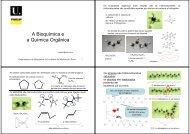 A Bioquímica e a Química Orgânica