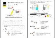 Reações de redox nos seres vivos nutrientes