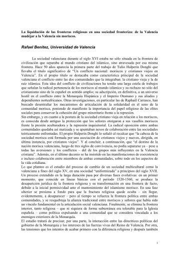 Rafael Benítez, Universidad de Valencia - framespa