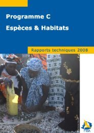 RAPPORT ANNUEL 2008 - Fondation Internationale du Banc d'Arguin