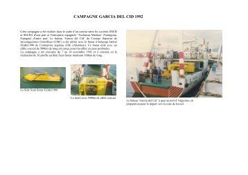 CAMPAGNE GARCIA DEL CID 1992