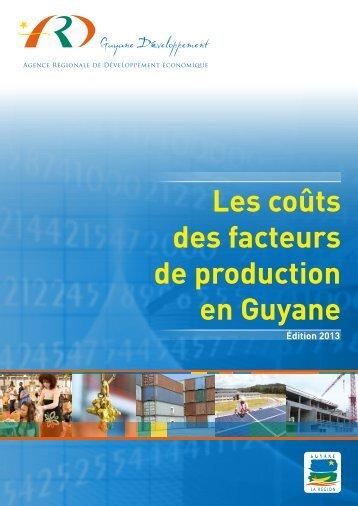 Les coûts des facteurs de production en Guyane - Région Guyane