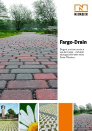 Fargo-Drain - Pflastersteine von Niemeier