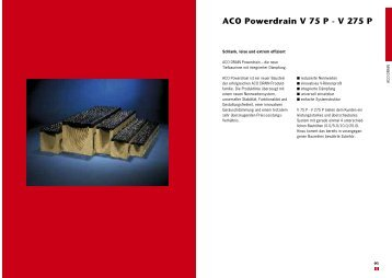 Powerdrain V 75 P Powerdrain V 75 P