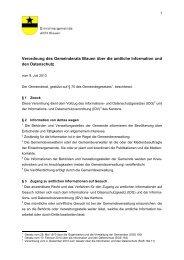 Verordnung des Gemeinderats Blauen über die ... - Gemeinde Blauen