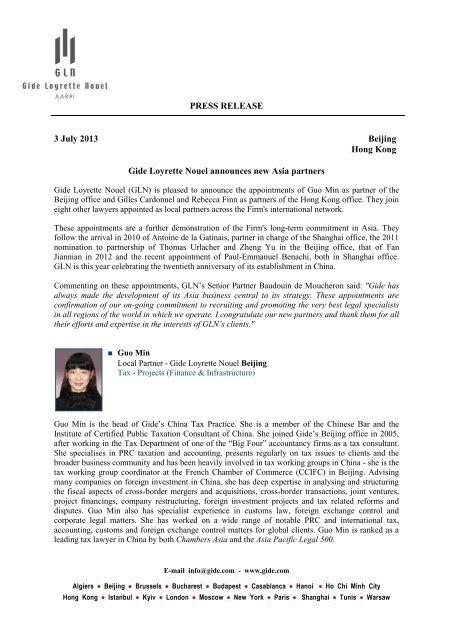 Printable version - Gide Loyrette Nouel