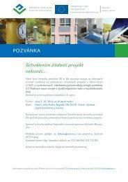 Pozvánka - Operační program Životní prostředí