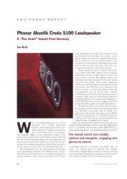 Phonar Akustik Credo S100 Loudspeaker - Phonar Akustik GmbH