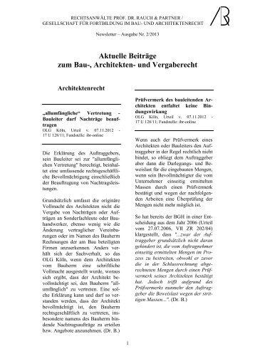 Newsletter Januar 2013 (Nr. 2) - Gesellschaft für Fortbildung | im ...