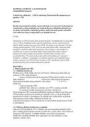 Celoživotní vzdělávání - CPD - Komora geodetů a kartografů