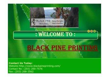 BLACK PINE PRINTING