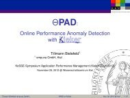 OPAD: Online Performance Anomaly Detection with Kieker
