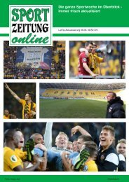 Sportzeitung Online - Saisonrückblick