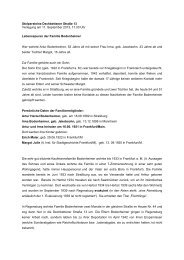 Lebensspur Familie Bodenheimer - Stolpersteine Regensburg