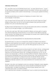 Lebensspur Familie Jordan - Stolpersteine Regensburg