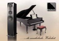 ...die musikalische Wahrheit - Phonar Akustik GmbH