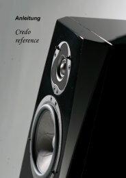 Credo reference teilaktiv - Phonar Akustik GmbH