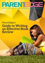 ParentEdge's l Guide to Writing an Effective Book Review