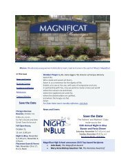 Save the Date - Magnificat High School