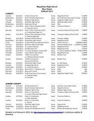 Magnificat Softball 2013 - Magnificat High School
