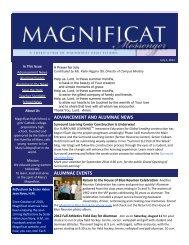 alumnae in the news - Magnificat High School