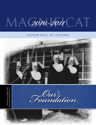 Honor roll of Donors - Magnificat High School