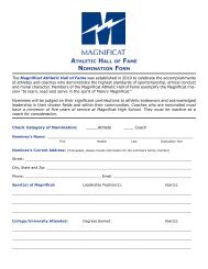 athletic hall of fame nomination form - Magnificat High School
